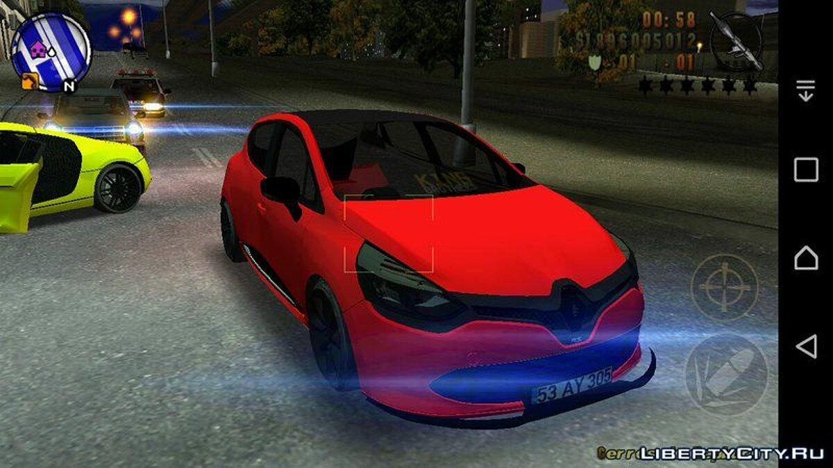 Renault Clio Four Air для GTA 3 (iOS, Android)