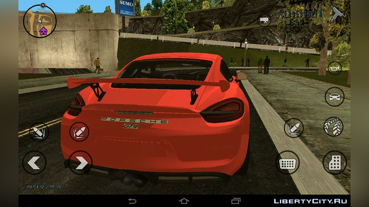 Машина Porsche Cayman GT4 для GTA 3 (iOS, Android)