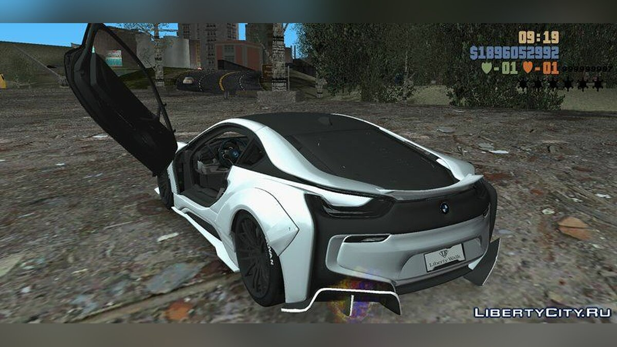 Машина BMW i8 LibertyWalk 2017 для GTA 3 (iOS, Android)