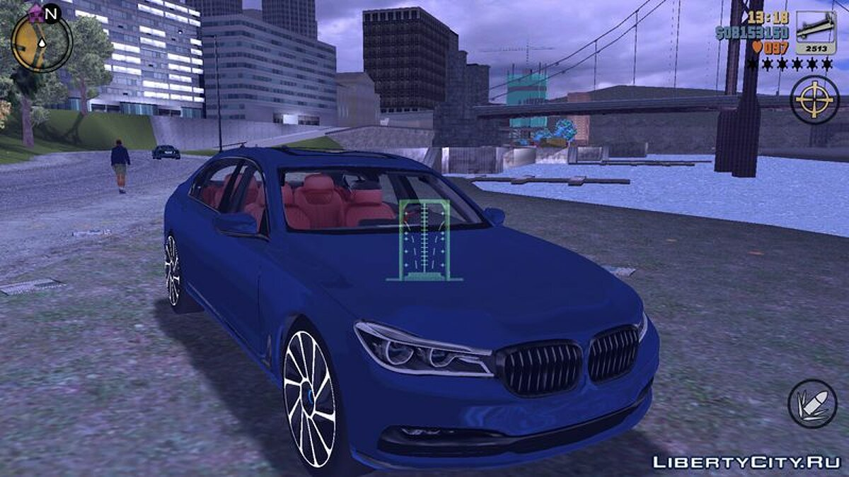 Машина 2016 BMW 750I для GTA 3 (iOS, Android)
