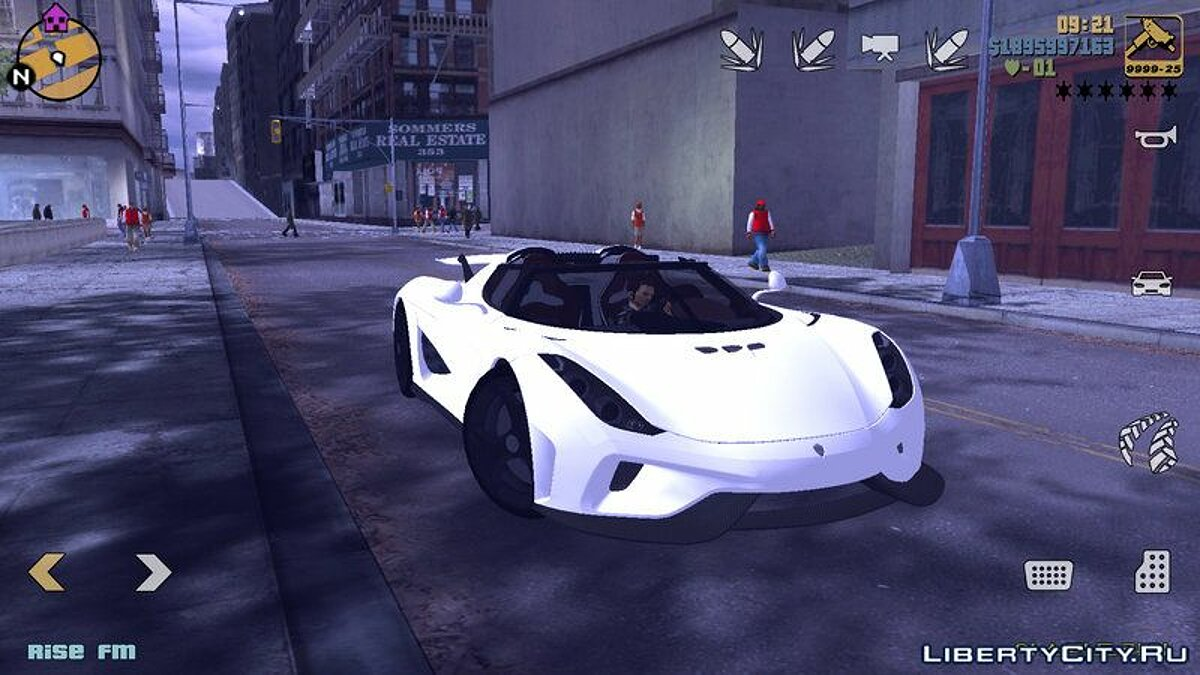 Koenigsegg Regera для GTA 3 (iOS, Android)