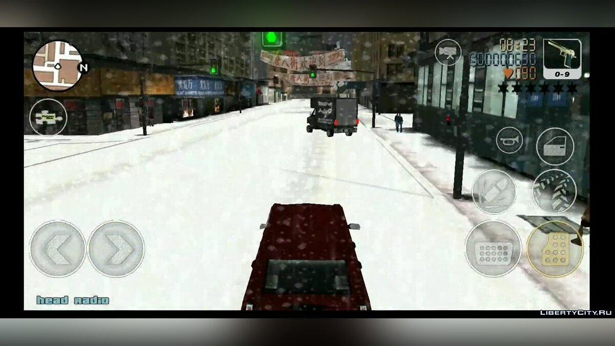 Большой мод Grand Theft Auto: Frosted Winter (Android) для GTA 3 (iOS, Android)