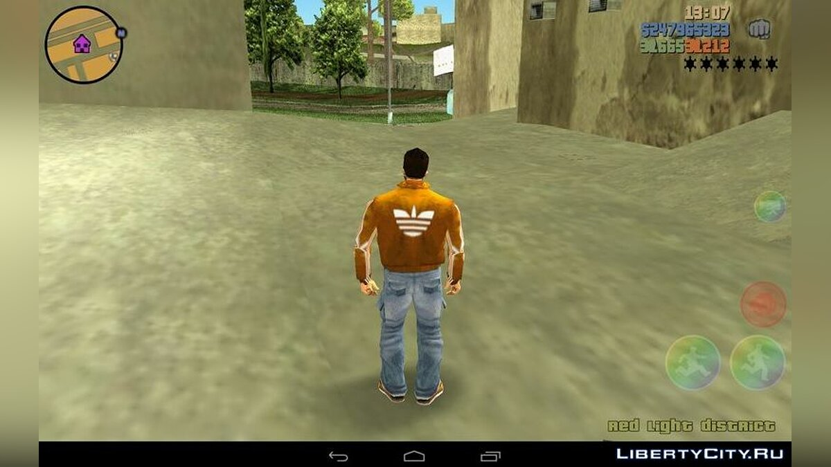 Мод Куртка Adidas для Клода для GTA 3 (iOS, Android)