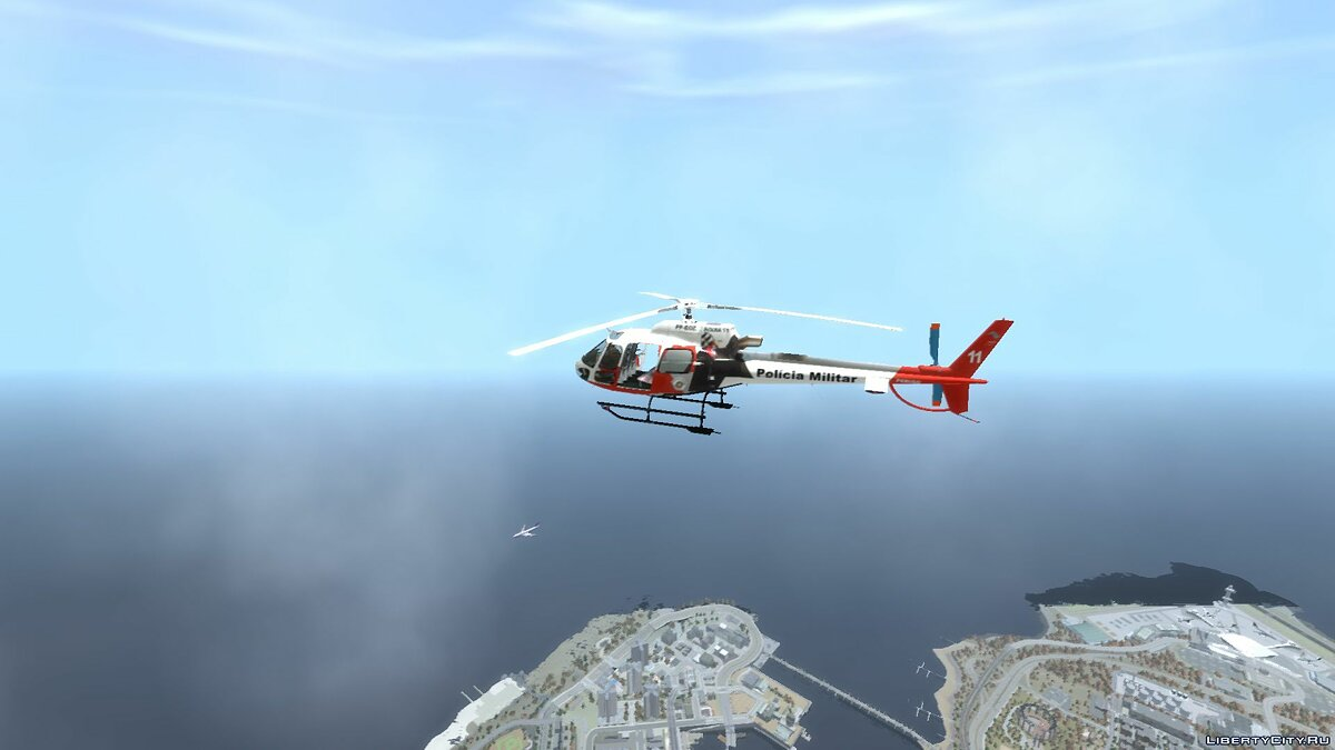 Самолет и вертолет Eurocopter AS350 Ecureuil Aguia 11 PMESP для GTA 4