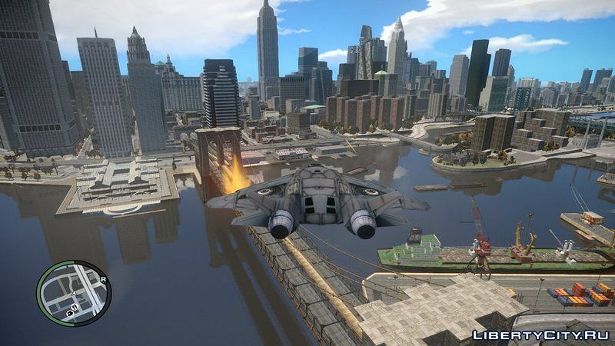 Самолет и вертолет The Avengers S.H.I.E.L.D. Quinjet for GTA IV and EFLC для GTA 4