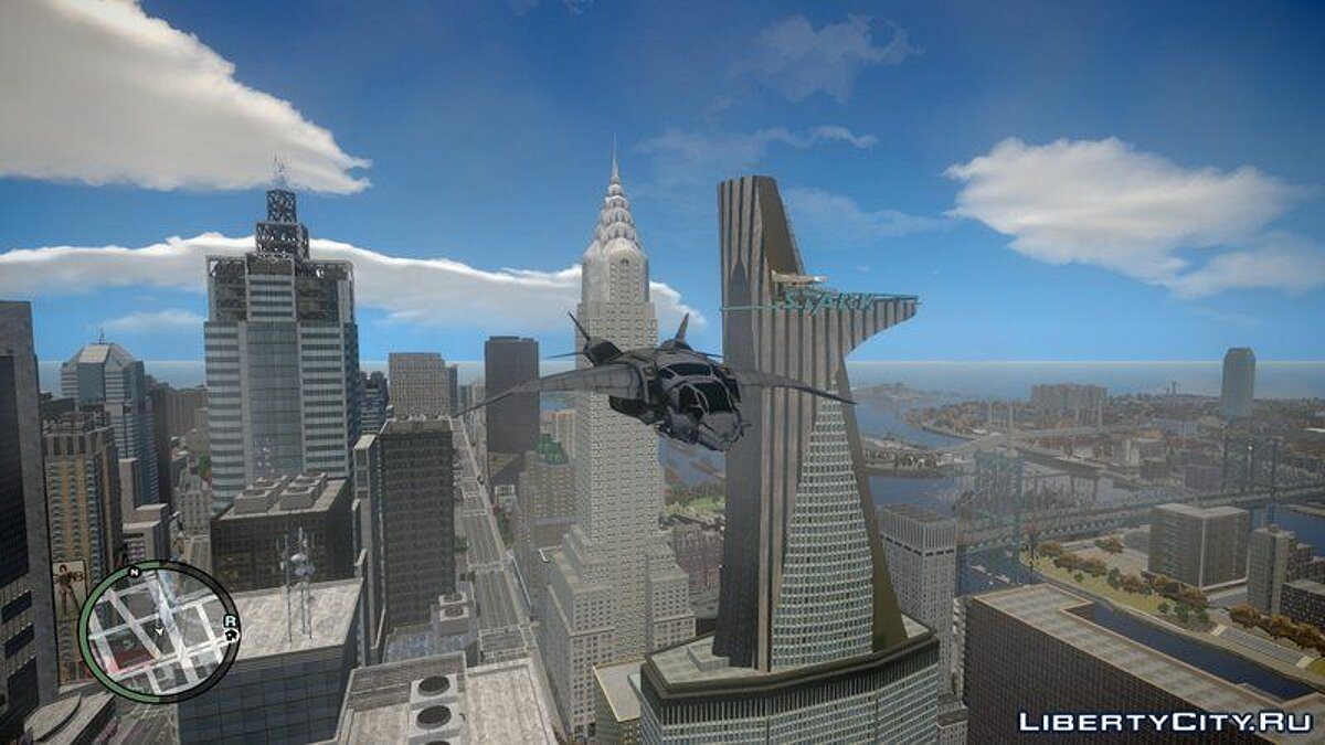 The Avengers S.H.I.E.L.D. Quinjet for GTA IV and EFLC для GTA 4 - скриншот #3