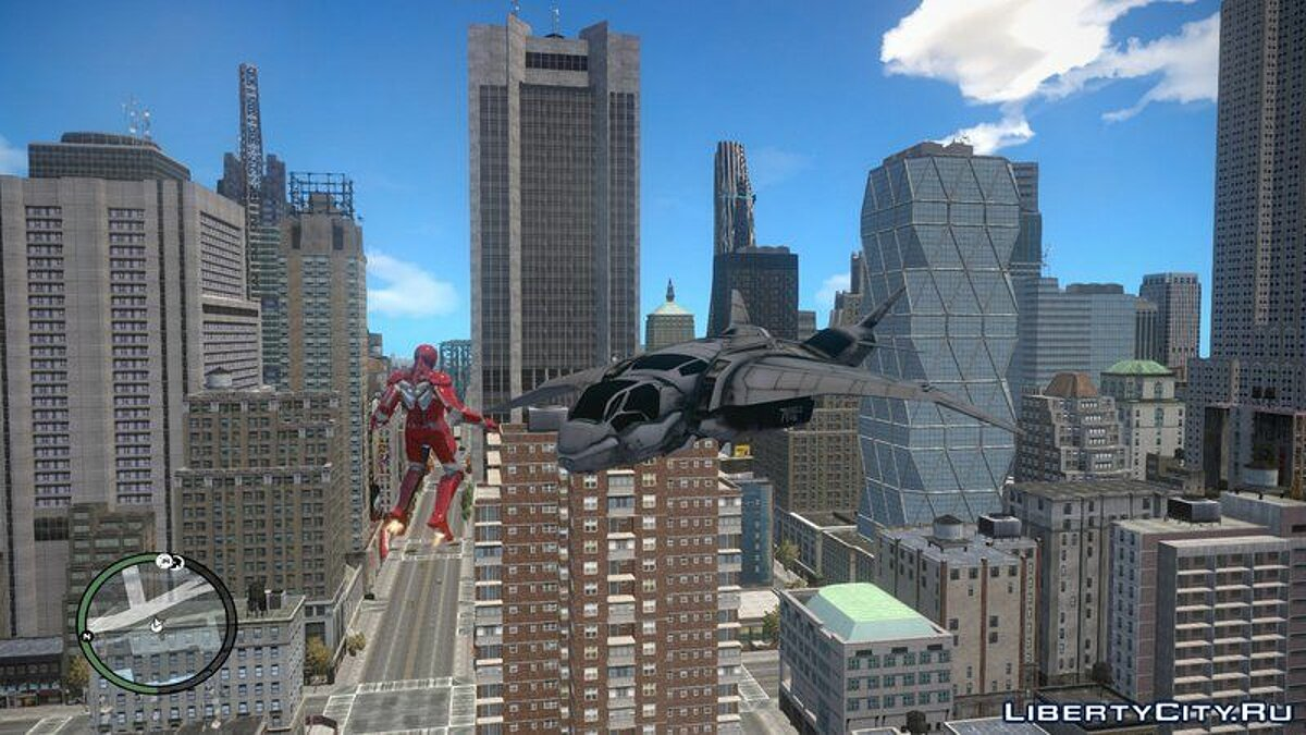 The Avengers S.H.I.E.L.D. Quinjet for GTA IV and EFLC для GTA 4 - скриншот #4