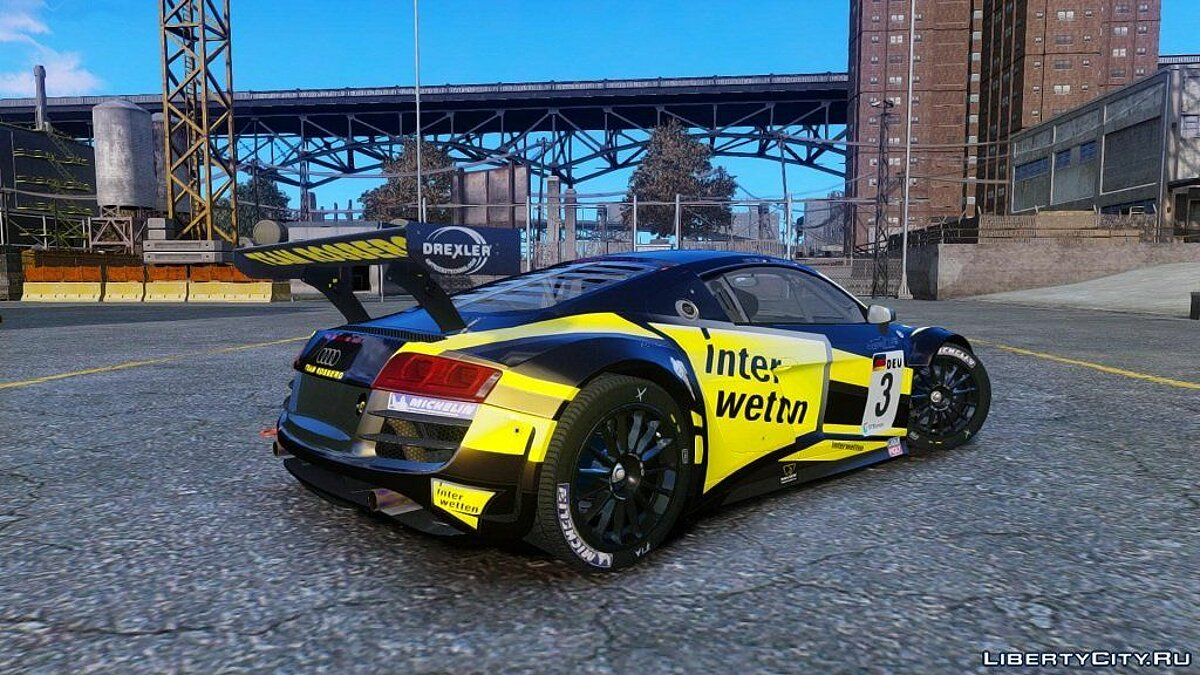 Audi R8 LMS NFS SHIFT 2 для GTA 4 - скриншот #2