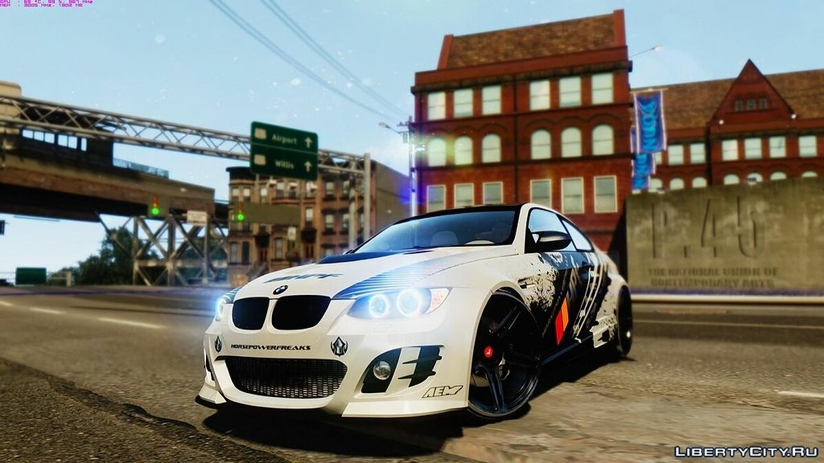 BMW M3 E92 GTS - Widebody для GTA 4