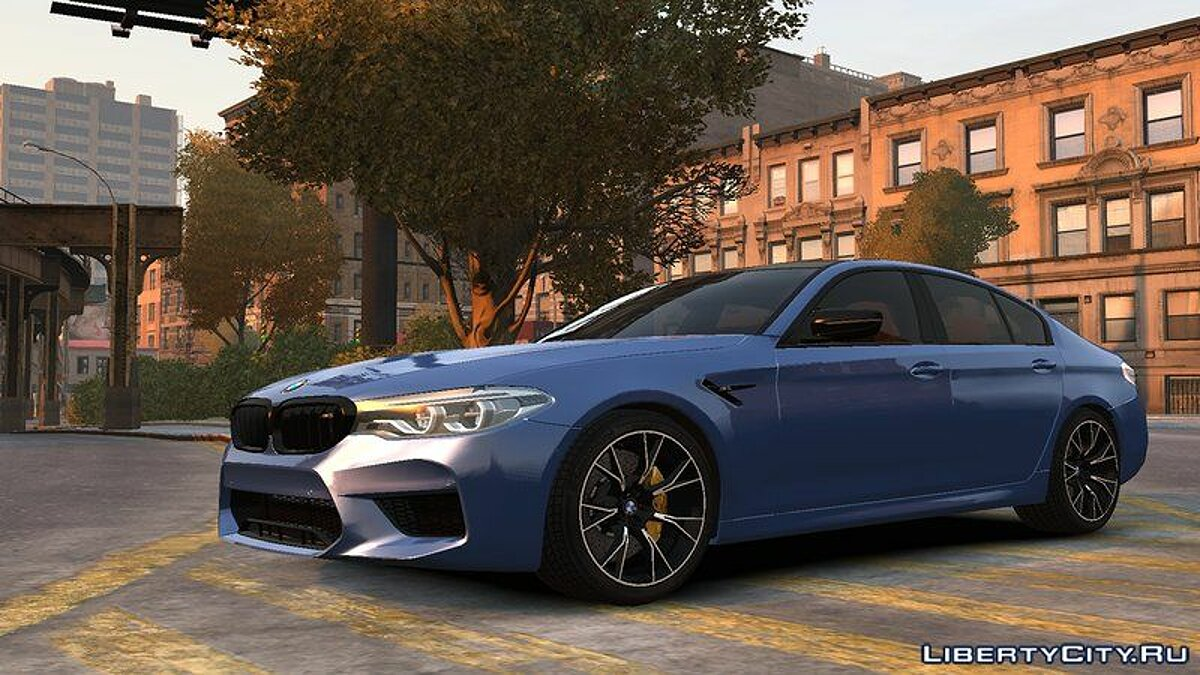 Машина BMW 2018 BMW M5 Competition v1.0 для GTA 4