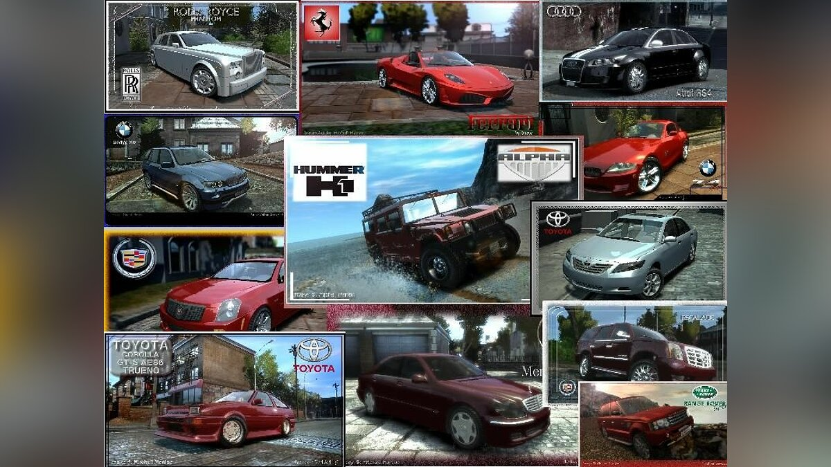 Real Cars For GTA 4 для GTA 4