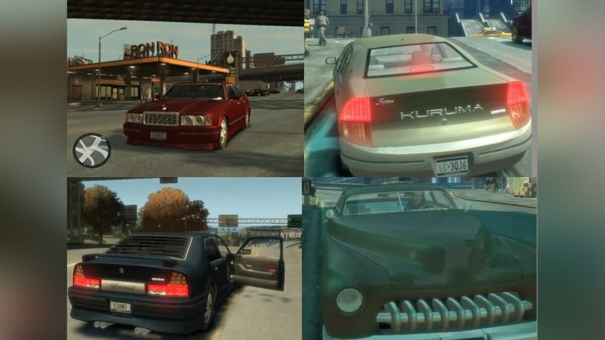 Сборник машин HD GTA 3 Pack для GTA 4