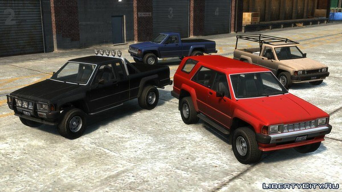Сборник машин Karin Rebel Sport Pack для GTA 4