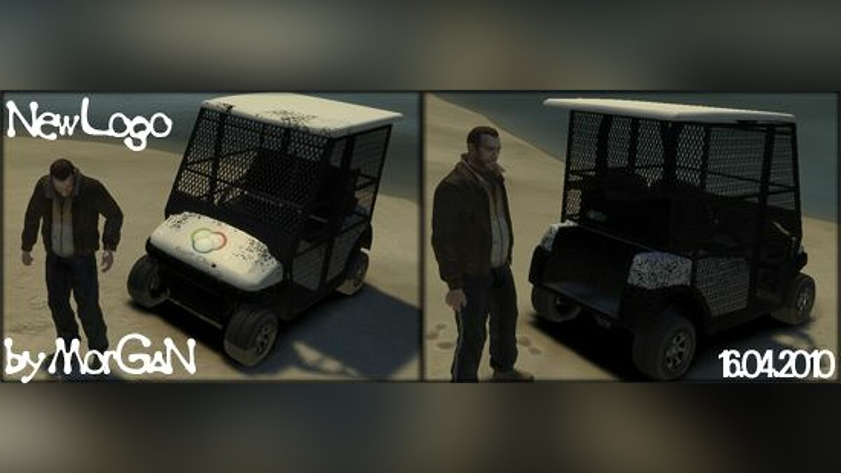 Golf Car - New Logo для GTA 4