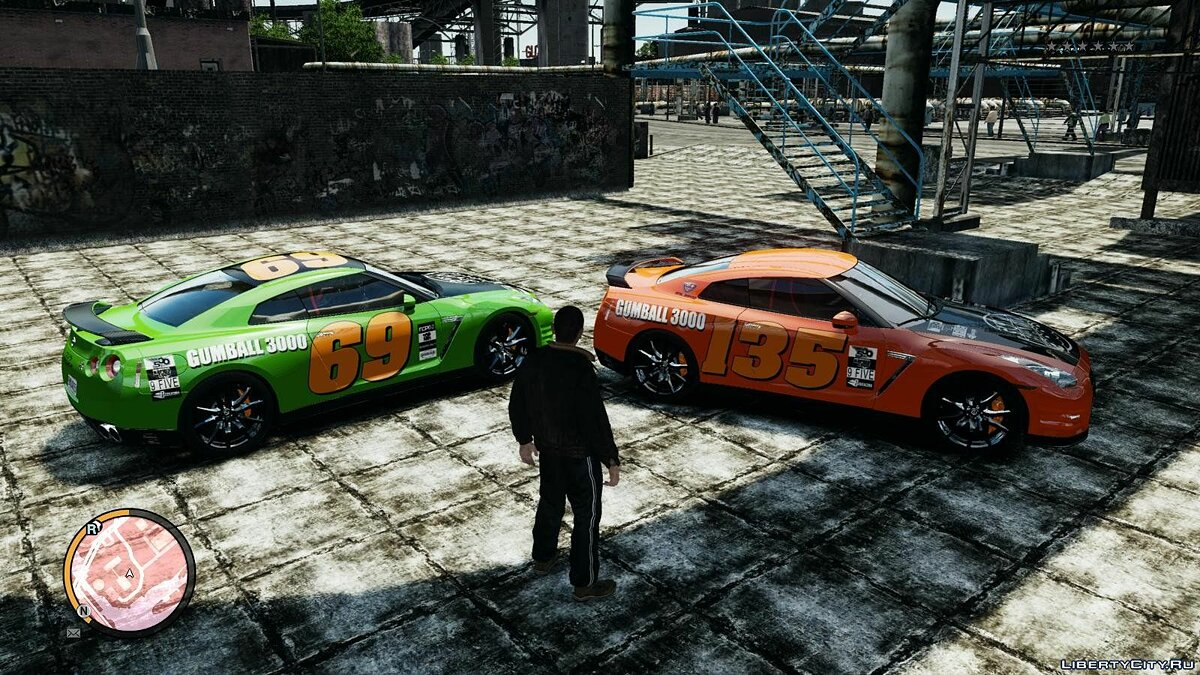 2012 Nissan GT-R Black Edition Gumball 3000 Paintjob для GTA 4