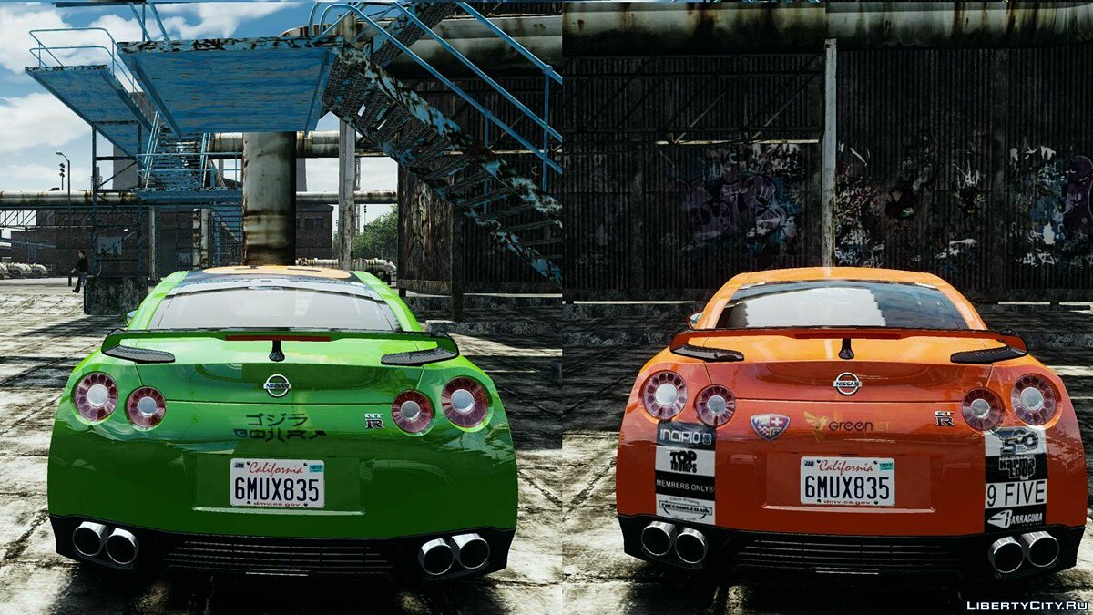 2012 Nissan GT-R Black Edition Gumball 3000 Paintjob для GTA 4 - скриншот #3