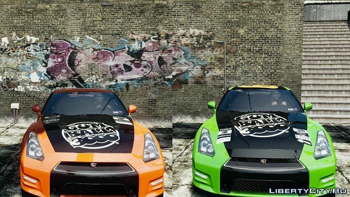 2012 Nissan GT-R Black Edition Gumball 3000 Paintjob для GTA 4 - скриншот #2