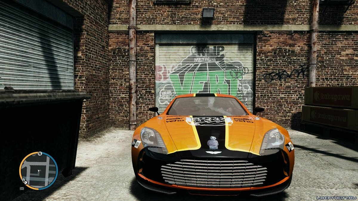 2010 Aston Martin One-77 Gumball 3000 Paintjob для GTA 4 - скриншот #3