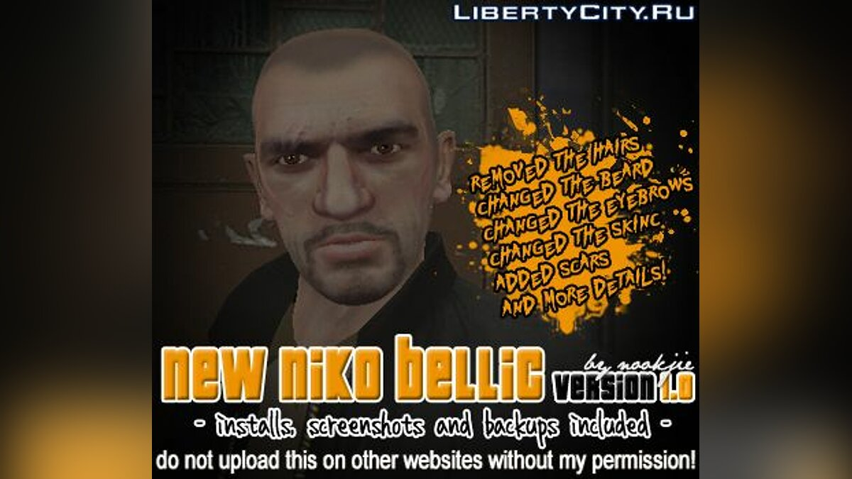 New Niko Bellic Skin v1.0 для GTA 4
