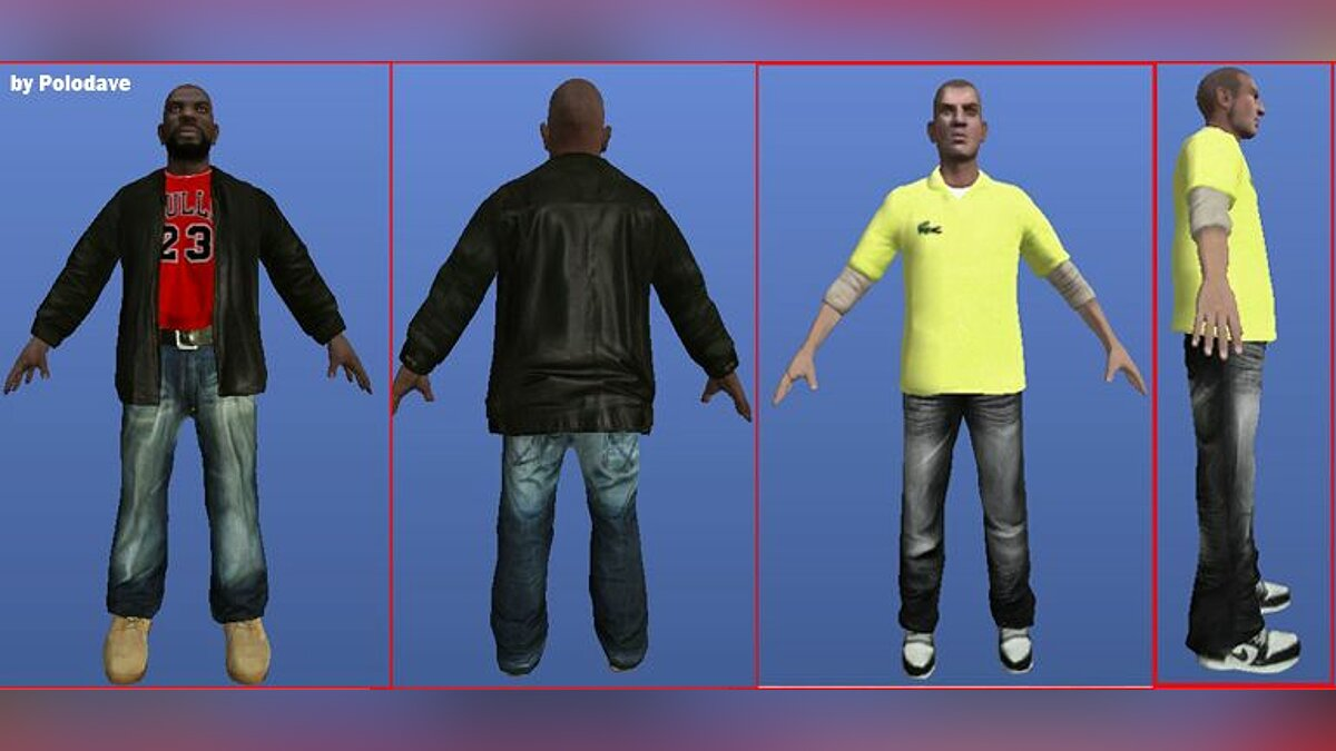 Dwayne and Packiere texture для GTA 4
