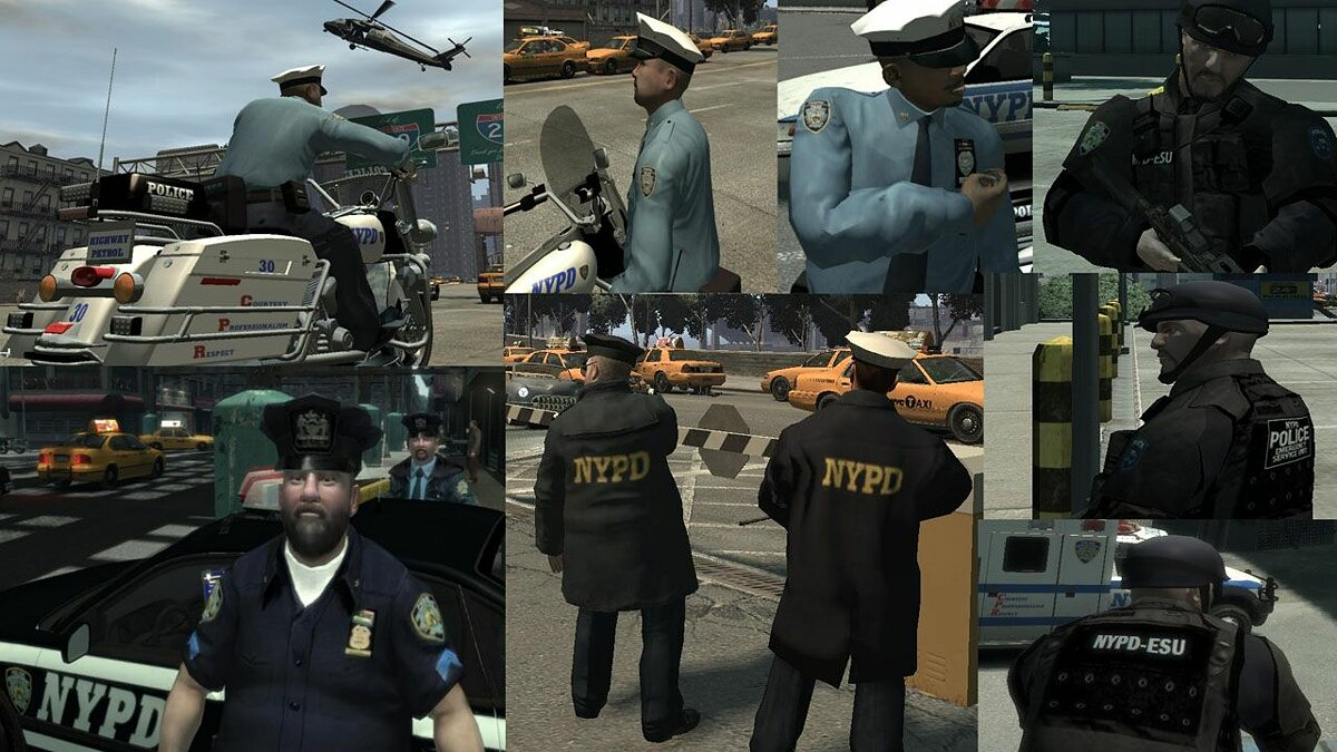 Ultimate NYPD & NY uniforms mod v.2.0  для GTA 4 - Картинка #1
