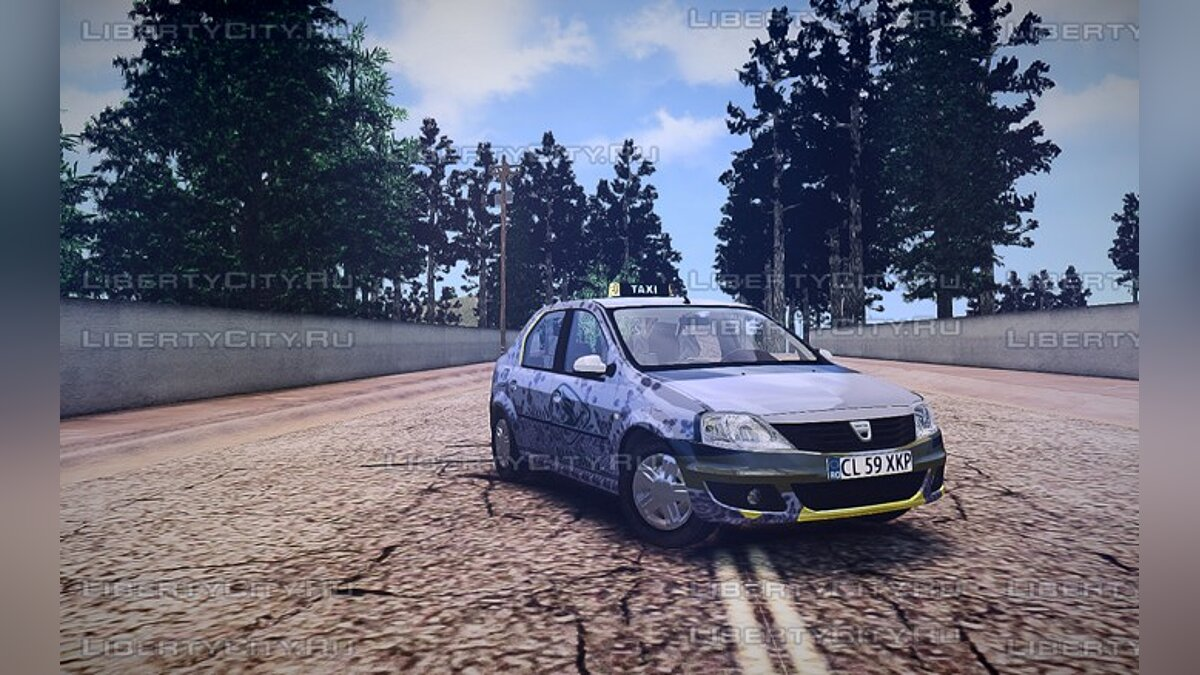 Машина Dacia Dacia Logan Taxi Version для GTA 4