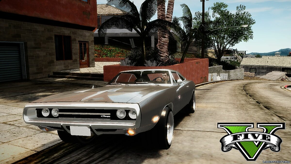 Машина Dodge Fast and Furious 7 1970 Dodge Charger Movie car mod v2.0 для GTA 4