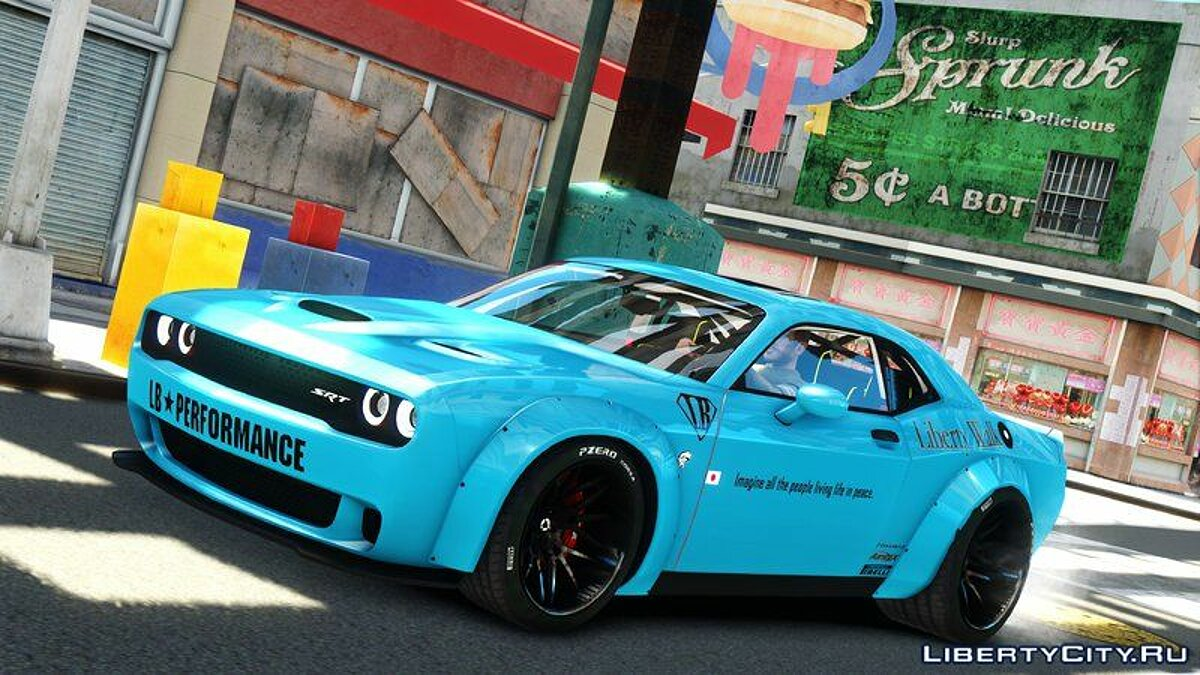 Машина Dodge Dodge Challenger Liberty Walk '15 для GTA 4
