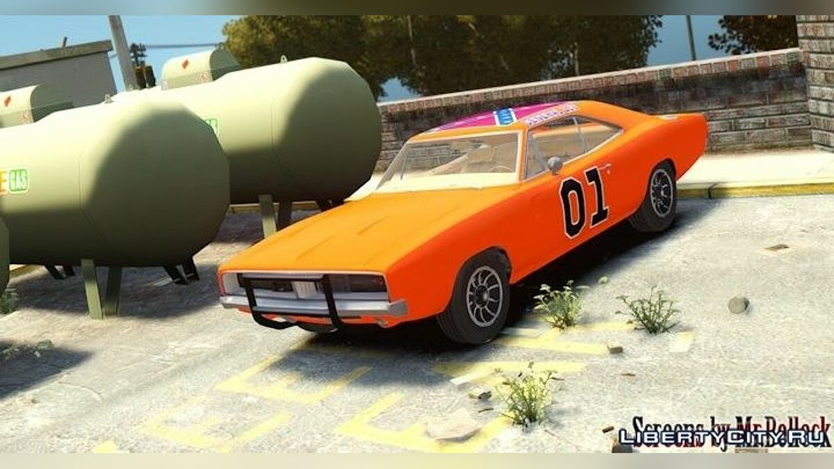 1969 Dodge Charger General Lee для GTA 4 - скриншот #2