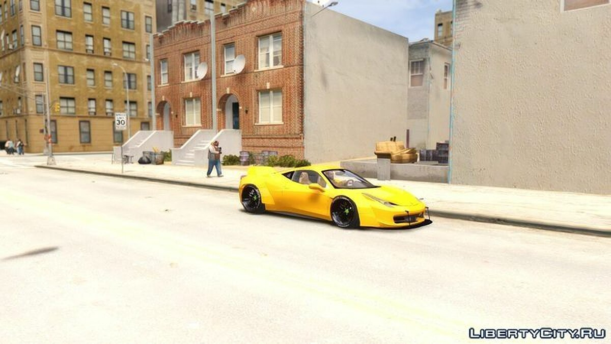 Ferrari 458 Italia Liberty Walk - BETA - для GTA 4 - скриншот #2