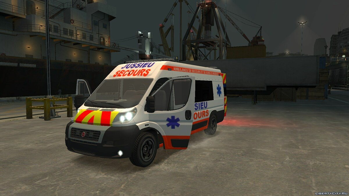 Машина Fiat Ambulance Jussieu Secours Fiat 2012 для GTA 4