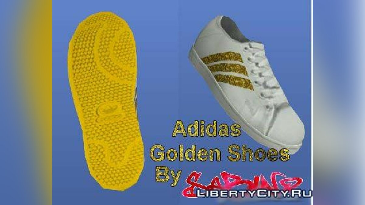Adidas Golden Shoes для GTA 4 - Картинка #1