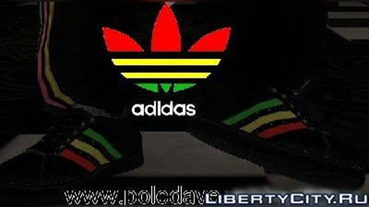 Adidas Rasta Shoes для GTA 4