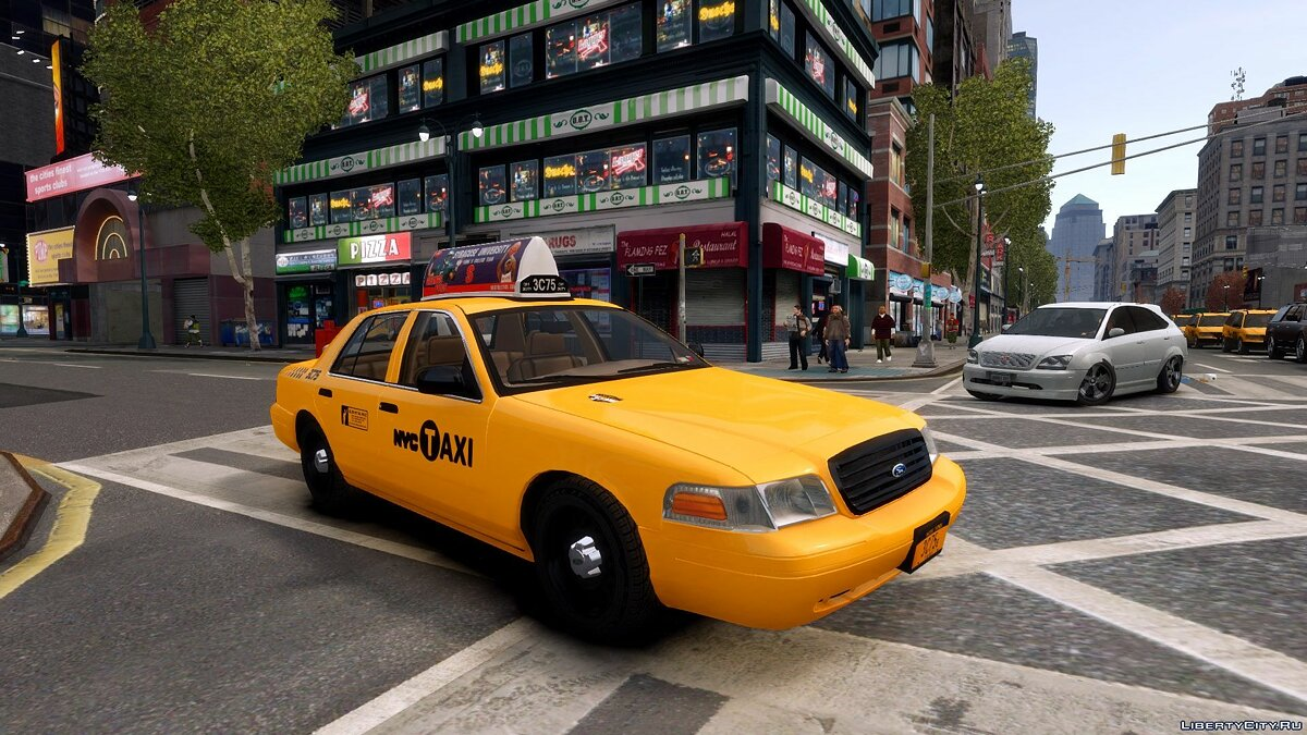 1999 Ford Crown Victoria NYC Taxi для GTA 4 - Картинка #1