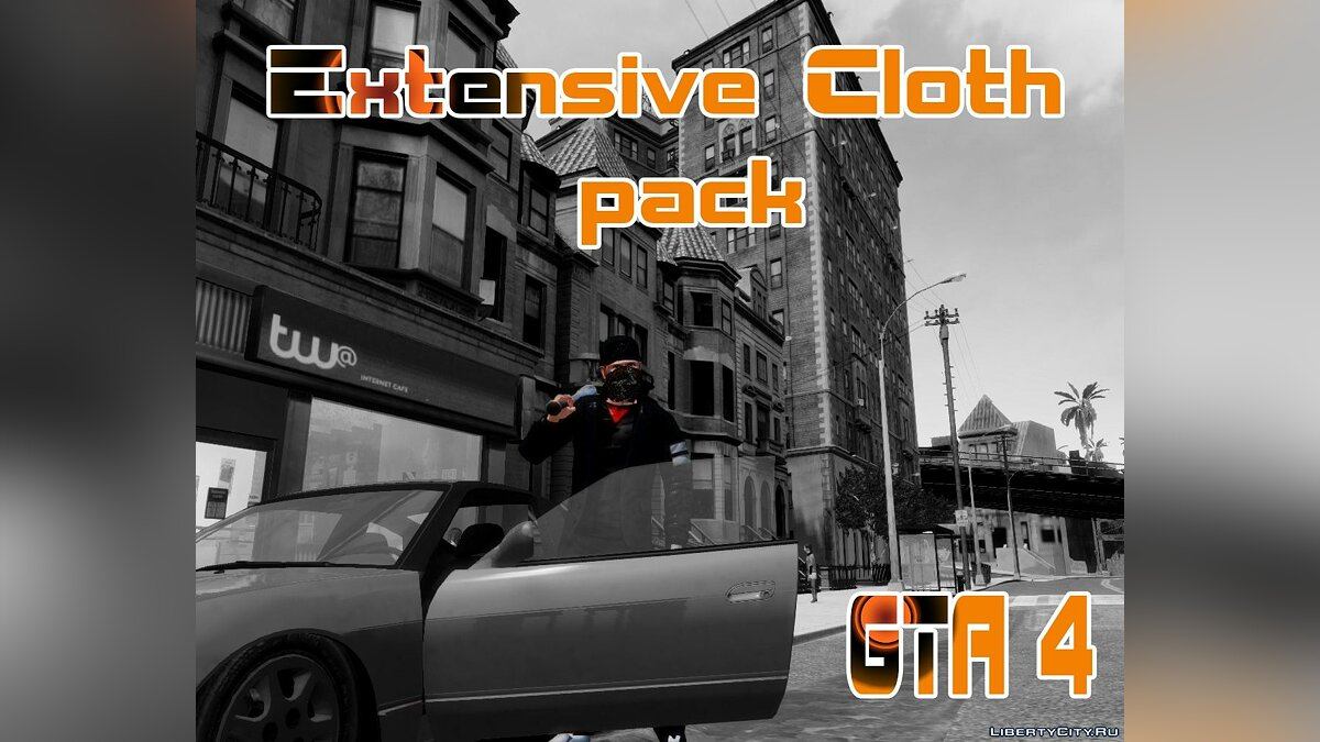 Большой мод Extensive cloth pack for Niko для GTA 4