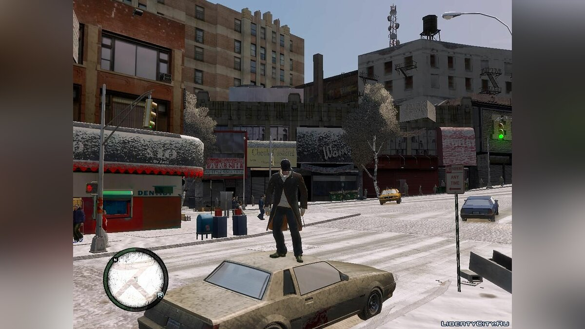 Большой мод Winter Liberty V2 - Зимний мод для GTA 4