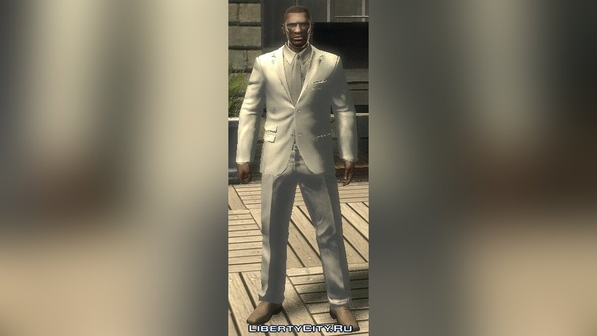 White and grey Suit для GTA 4