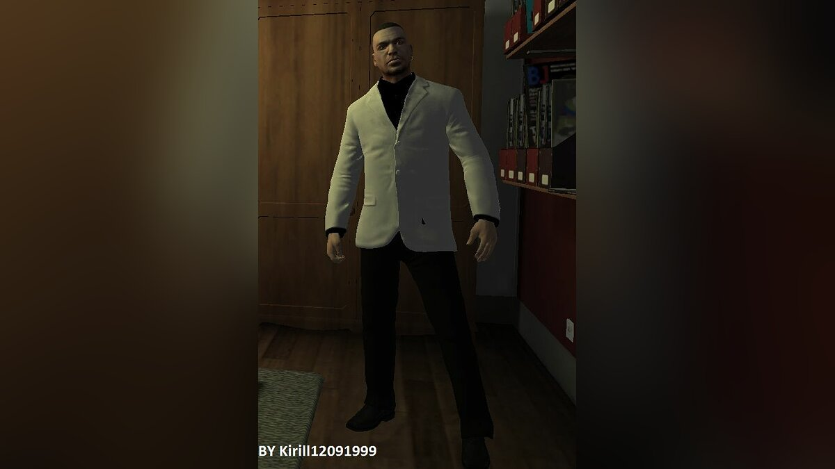 White-Black suit for TBOGT для GTA 4 - Картинка #1
