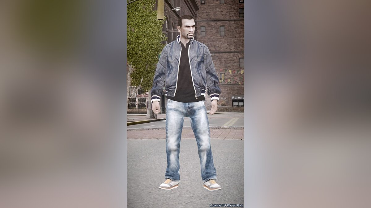 Running shoes, jacket & jeans для GTA 4