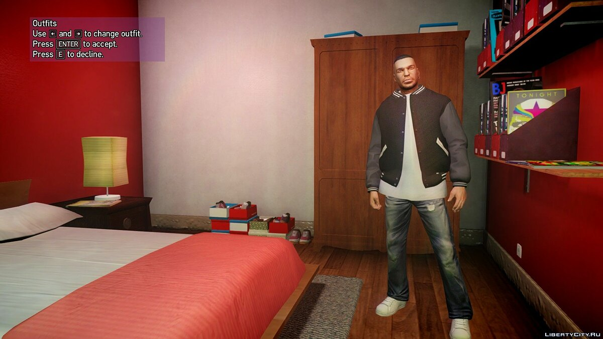 ��уртка или костюм [GTA V] Franklin's jacket pack для GTA 4