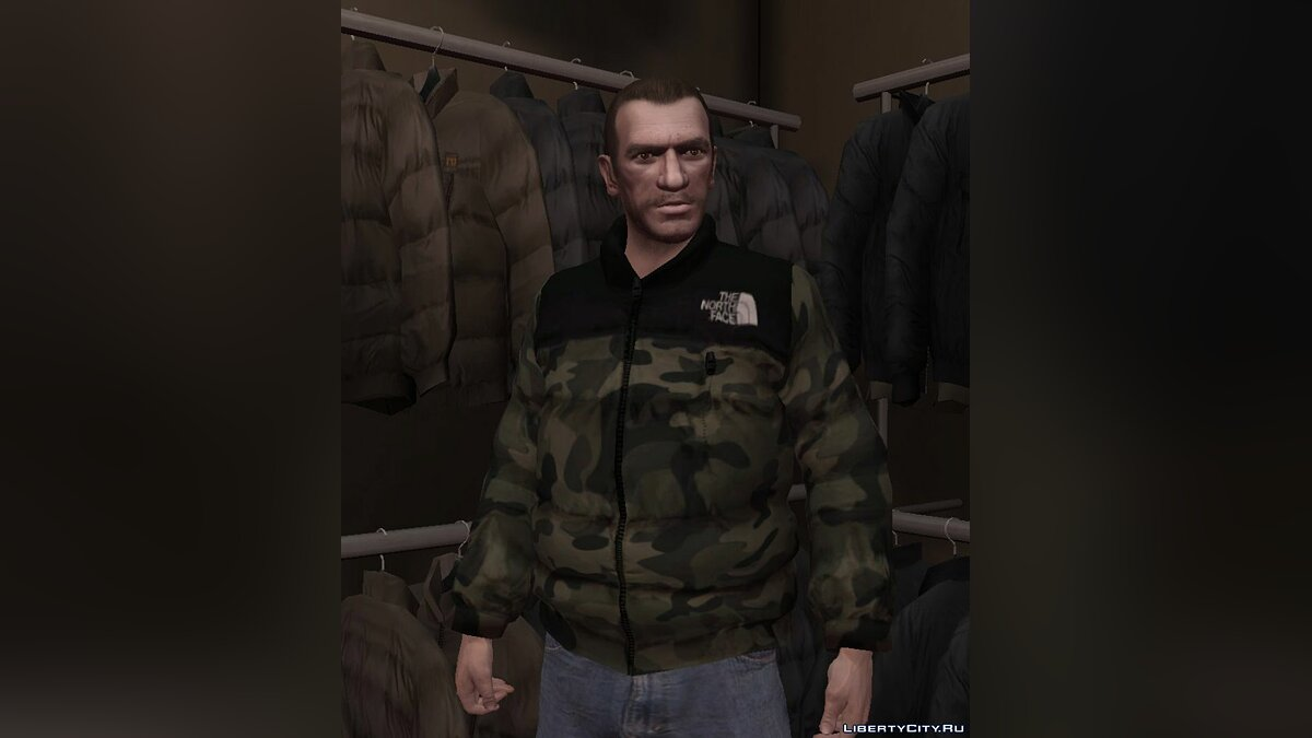 Куртка или костюм The North Face 1996 Nuptse Camo Jacket для GTA 4