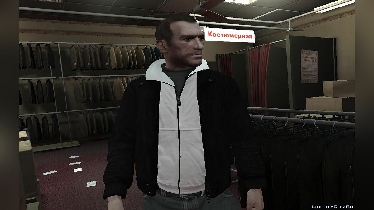 Black Leather Jacket для GTA 4 - скриншот #3