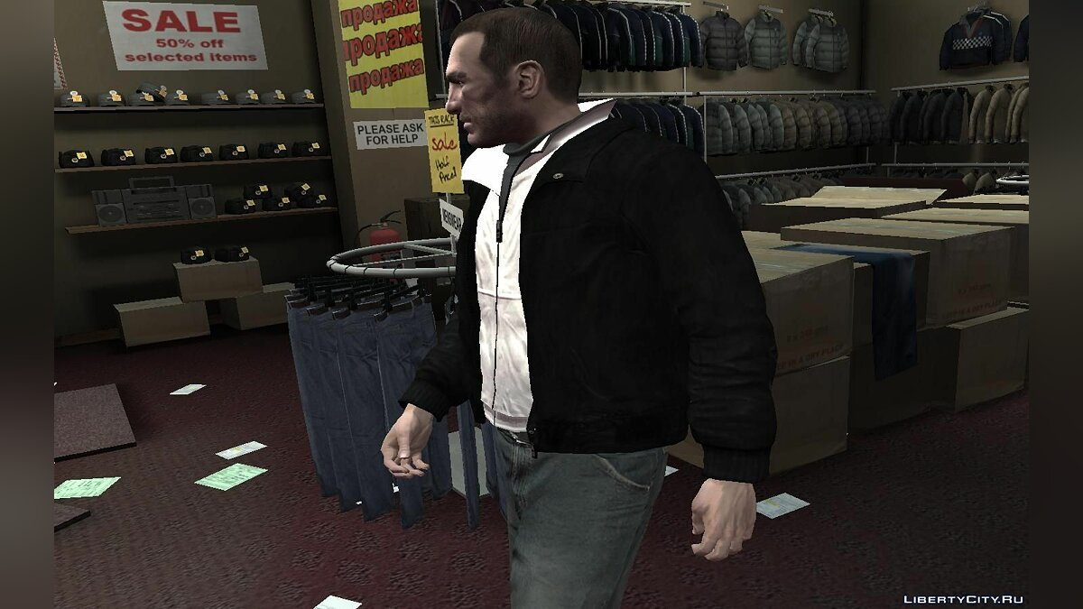 Black Leather Jacket для GTA 4 - скриншот #5