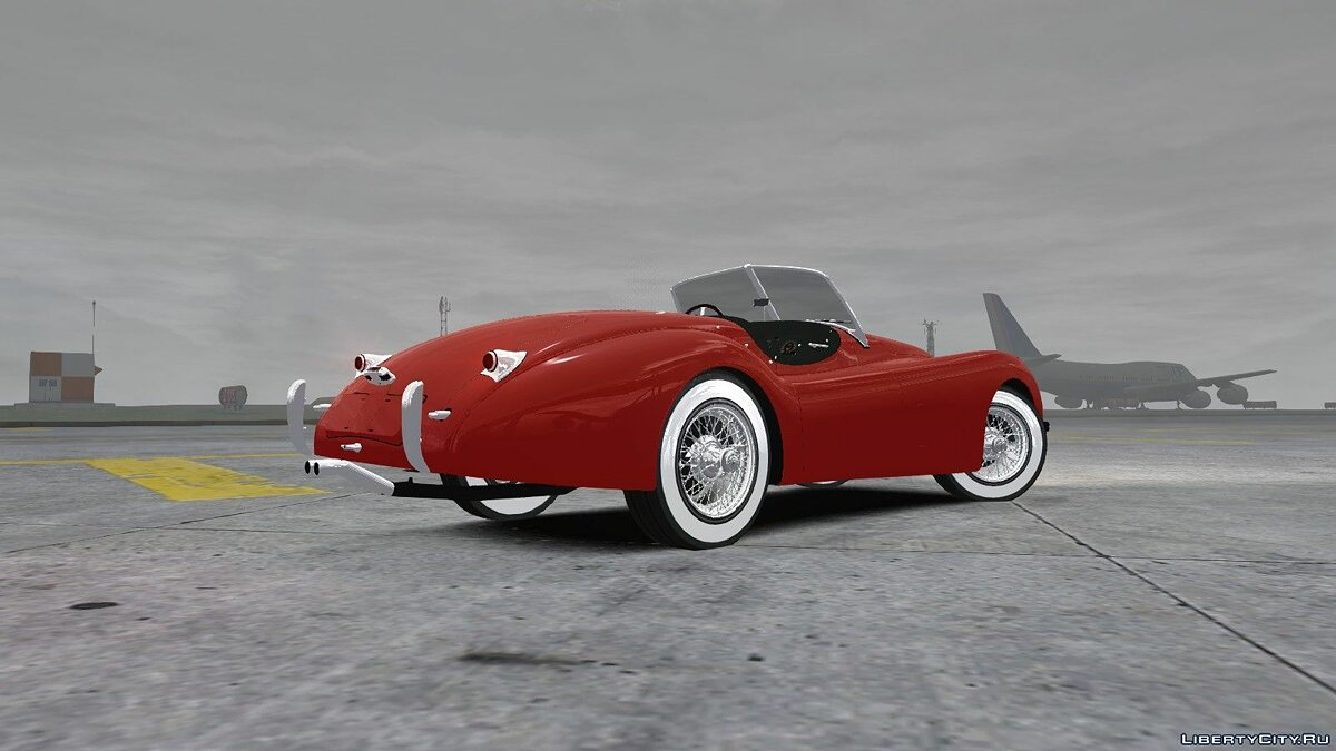 1954 Jaguar XK120 SE Roadster для GTA 4 - скриншот #2