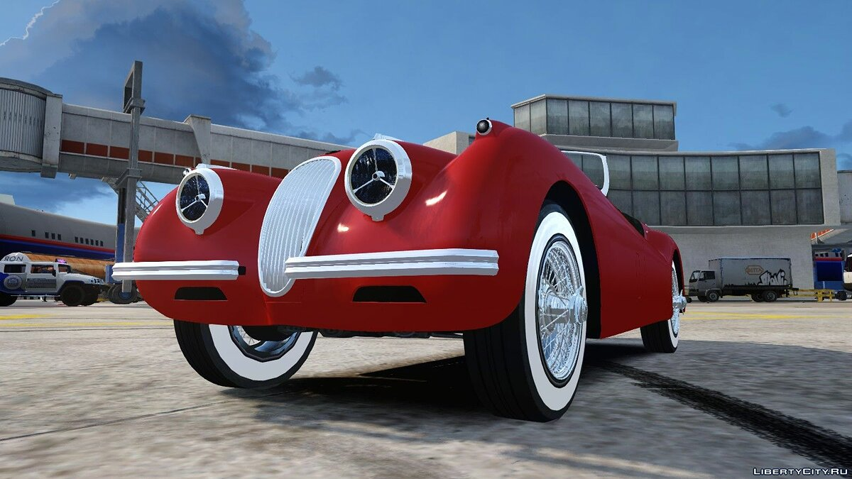 1954 Jaguar XK120 SE Roadster для GTA 4 - скриншот #4