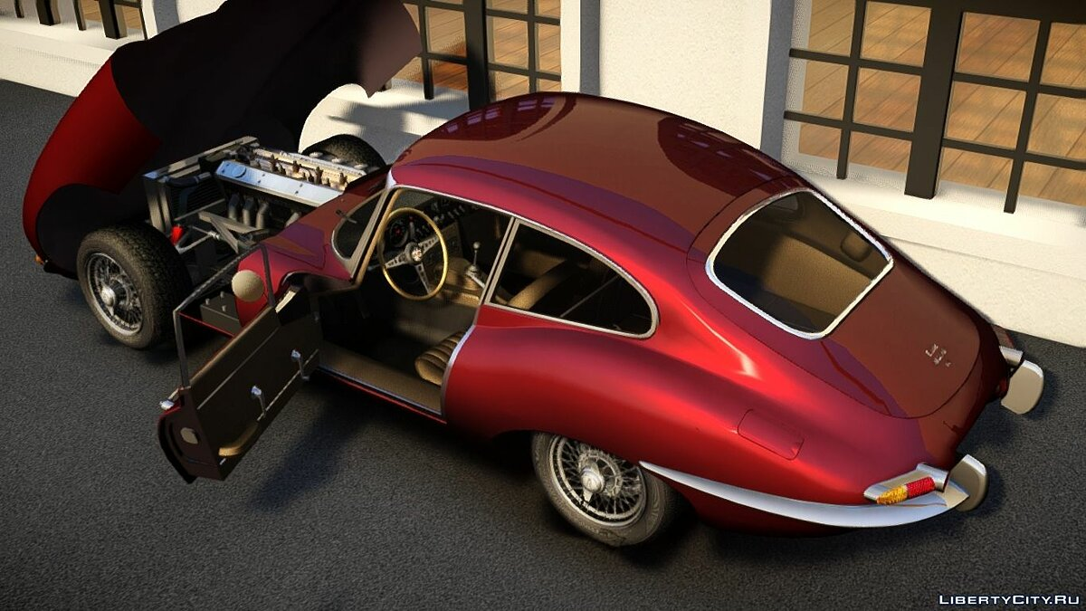 1961 Jaguar E-type для GTA 4 - скриншот #2