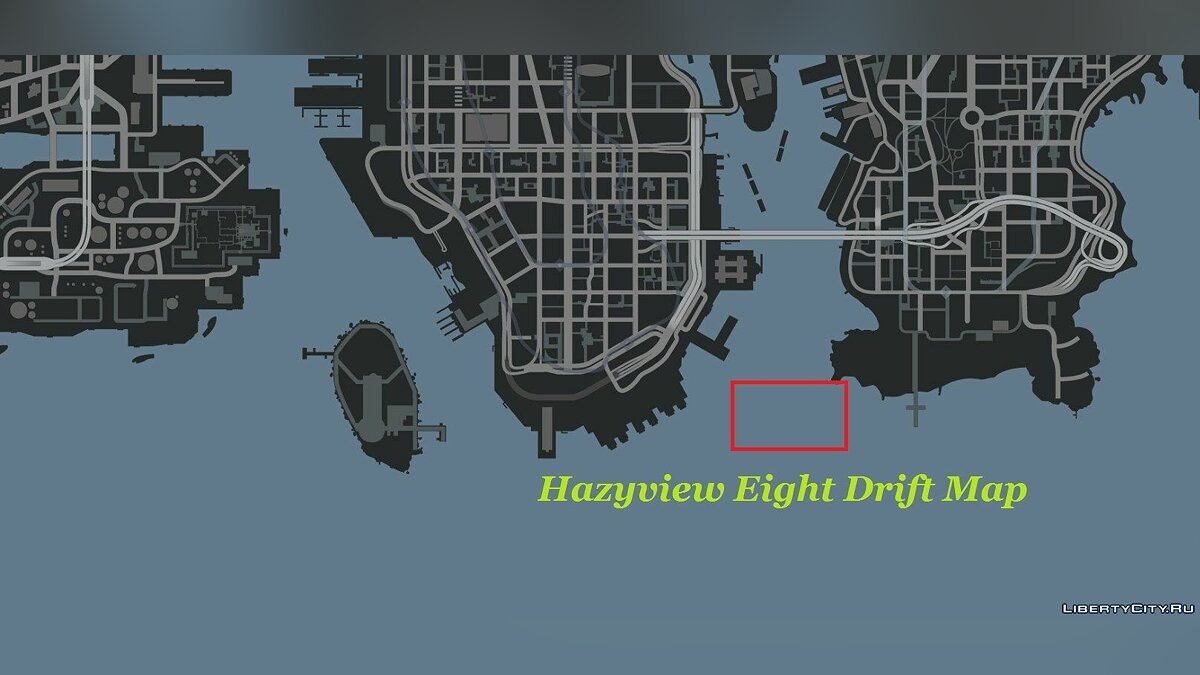 Hazyview Eight Drift Map для GTA 4 - скриншот #2