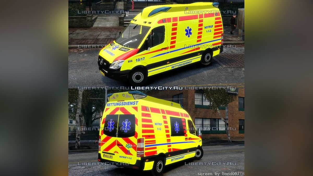 Ambulance Mercedes Sprinter 2011 для GTA 4