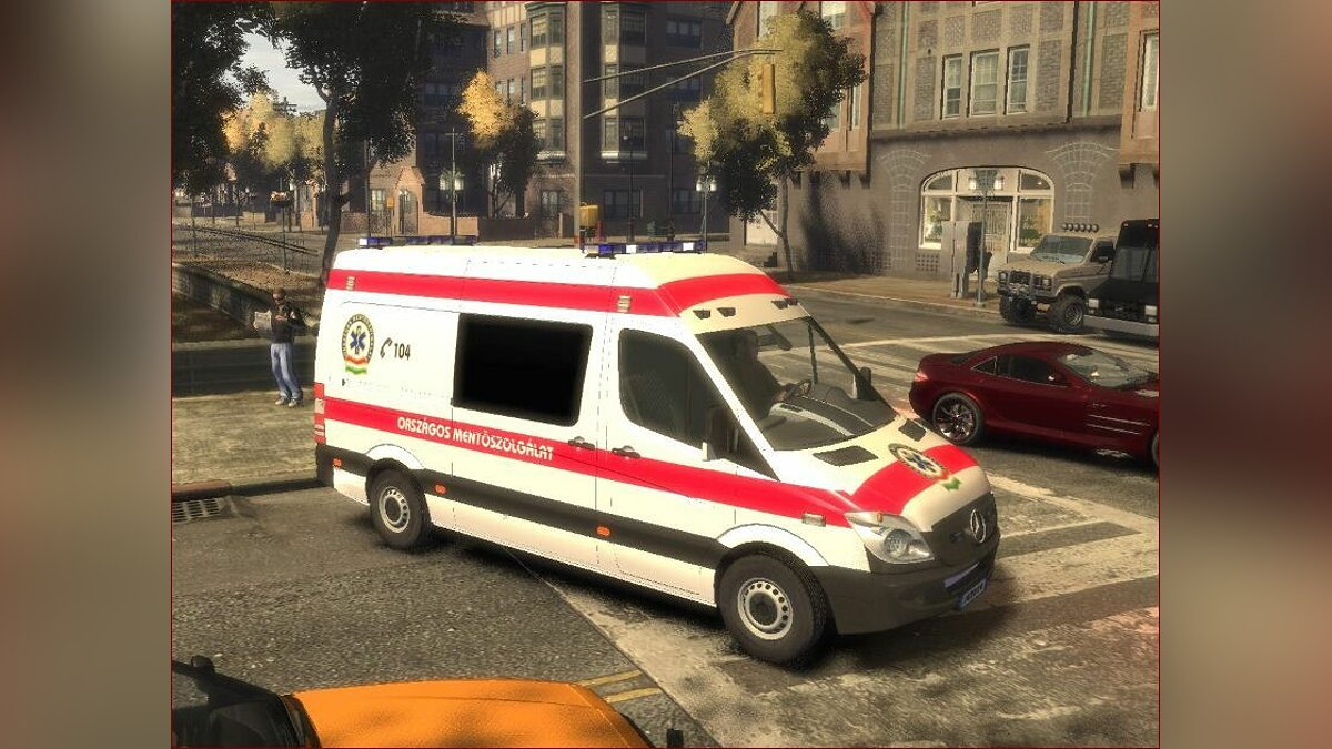 Hungarian Mercedes Sprinter Ambulance для GTA 4