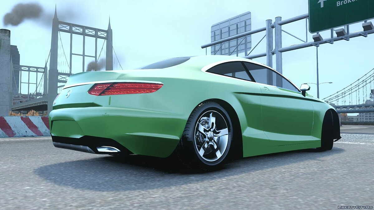 2015 Mercedes Benz S500 coupe для GTA 4 - скриншот #4